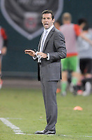 D.C. United head coach Ben Olsen. D.C. United defeated The Chicago Fire 4-2 at RFK Stadium, Wednesday August 22, 2012.