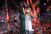 São Paulo (SP) 09/03/2019 - Concurso / Miss Brasil -  Vencedora do Miss Brasil Julia Horta de 24 anos MissMinas Gerais e a Miss Brasil 2018 Mayra Dias (de verde) Be Emotion durante concurso Miss Brasil Be Emotionno centro de exposições São Paulo Expo na região sul da cidade de São Paulo, neste sábado, 09.(Foto: William Volcov/Brazil Photo Press/Agencia O Globo) Entretenimento