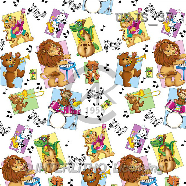 Janet, GIFT WRAPS, paintings, Animal Musicians 1(USJS37,#GP#) everyday