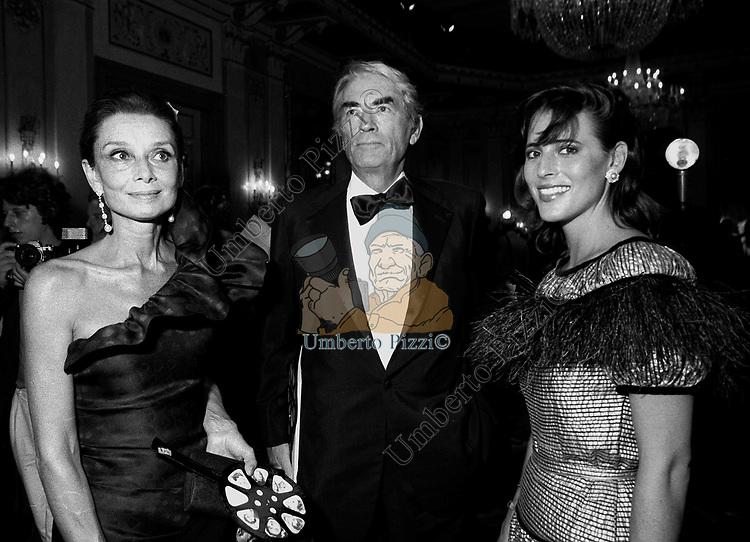 AUDREY HEPBURN CON GREGORY PECK<br /> VENEZIA 1984