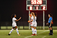 Lakewood Ranch, FL - Wednesday, October 10, 2018:   Trinity Byars, Astrid Wheeler, referee during a U-17 USWNT match against Colombia.  The U-17 USWNT defeated Colombia 4-1.