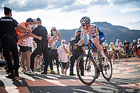 Remi Cavagna (FRA/Deceuninck-Quick Step) up the Puy Mary (uphill finish)<br /> <br /> Stage 13 from Châtel-Guyon to Pas de Peyrol (Le Puy Mary) (192km)<br /> <br /> 107th Tour de France 2020 (2.UWT)<br /> (the 'postponed edition' held in september)<br /> <br /> ©kramon