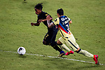 Latif Blessing of Los Angeles FC (USA) and Jorge Sanchez of Club America (MEX) fight for the ball during their CONCACAF Champions League Semi Finals match at the Orlando's Exploria Stadium on 19 December 2020, in Florida, USA. Photo by Victor Fraile / Power Sport Images