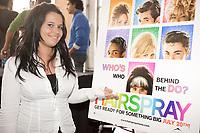 Audrey, ex-Star Académie (québec) qui est une des<br /> interprètes québécois qui prêteront leur voix pour<br /> > la version franÌaise des chansons du film HAIRSPRAY Réalisé par Adam Shankman, le film met<br /> > en vedette John Travolta, Amanda Bynes, Christopher Walken,<br /> > Michelle Pfeiffer, Queen Latifah et Nikki Blondsky. Distribué au<br /> > Québec par Alliance Atlantis Vivafilm, « HAIRSPRAY » prendra<br /> > l'affiche en versions franÌaise et anglaise le 20 juillet prochain.<br /> <br /> <br /> <br /> HAIRSPRAY » est une adaptation de la comédie musicale du même nom<br /> > lancée en 2002 à Broadway, elle-même adaptée du film de John Waters<br /> > sorti en 1988.<br /> <br /> photo : Pierre Roussel (c)  Images Distribution