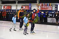 SPEEDSKATING: CALGARY: 03-03-2019, ISU World Allround Speed Skating Championships, World Champions Patrick Roest (NED) and Martina Sáblíková (CZE), ©Fotopersburo Martin de Jong