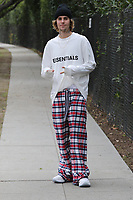 BEVERLY HILLS, CA - FEBRUARY 9: Justin Bieber seen out wearing pajamas in Beverly Hills, California on February 9, 2021. <br /> CAP/MPI99<br /> ©MPI99/Capital Pictures