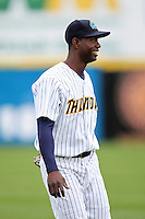 Trenton Thunder outfielder Melky Mesa #25 during a game against the Portland Sea Dogs at Waterfront Park on May 4, 2011 in Trenton, New Jersey.  Trenton defeated Portland by the score of 7-1.  Photo By Mike Janes/Four Seam Images