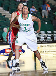 North Texas Mean Green forward Ash'Lynne Evans (1) in action during the NCAA Women's basketball game between the South Alabama Jaguars and the University of North Texas Mean Green at the North Texas Coliseum,the Super Pit, in Denton, Texas. South Alabama defeated UNT 79 to 61.