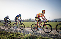 eventul 2nd finisher Rasmus Tiller (NOR/Uno-X Pro) crushing the cobbles<br /> <br /> 53rd Le Samyn 2021<br /> ME (1.1)<br /> 1 day race from Quaregnon to Dour (BEL/205km)<br /> <br /> ©kramon
