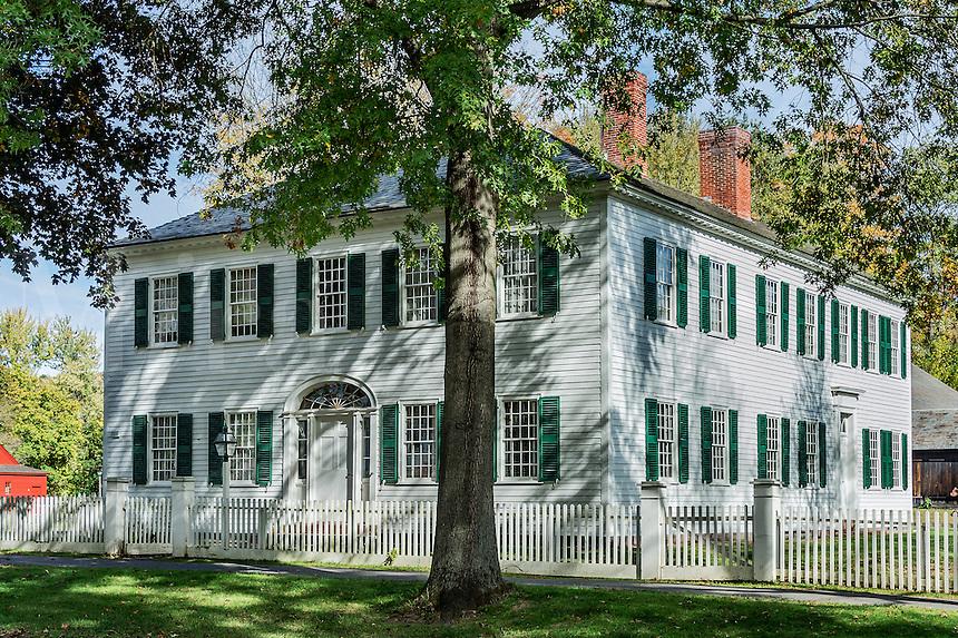 Williams House in historic Deerfield, Massachusetts, USA