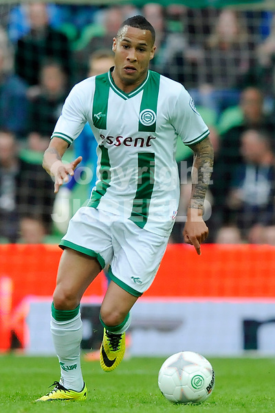 GRONINGEN - Voetbal, FC Groningen - Vitesse, Eredivisie halve finale playoff,  stadion Euroborg, seizoen 2013-2014, 07-05-2014,  FC Groningen speler Tjarron Chery