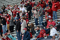 Arkansas fans call the Hogs Saturday, April 3, 2021, during a scrimmage at Razorback Stadium in Fayetteville. Visit nwaonline.com/210404Daily/ for today's photo gallery. <br /> (NWA Democrat-Gazette/Andy Shupe)
