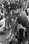The Gay Liberation Front demonstrated against the Nationwide Festival of Light. Two gay men demonstrating against the  Festival of Light rally in Hyde Park London September 1971 Festival of Light was a Christian protest movement against the English so called permissive Society  London Uk 1970s UK