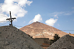 Piles of ore at an ingenio (smelting facility) in Potosí.