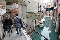 Uno scorcio del sestiere di Castello.<br /> A canal at the sestiere of Castello, Venice.<br /> UPDATE IMAGES PRESS/Riccardo De Luca