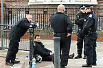 © Joel Goodman - 07973 332324 . 07/08/2011 . London , UK . Police on Tottenham High Street . Overnight rioting and looting in Tottenham , following a protest against the police shooting of Mark Duggan . Photo credit : Joel Goodman