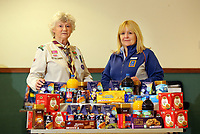 Sarah Pudsey, Aldi Store Manager (R), Pat Parkhurst, scout leader (L)