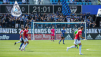 SAN JOSE, CA - APRIL 24: San Jose Earthquakes fans during a game between FC Dallas and San Jose Earthquakes at PayPal Park on April 24, 2021 in San Jose, California.