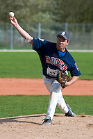 18 April 2006: Philippe Lecourieux pitches during the third of seven 2006 MLB European Academy Try-out Sessions throughout Europe, at Stade Pershing, INSEP, near Paris, France. Try-out sessions are run by members of the Major League Baseball Scouting Bureau with assistance from MLBI staff.