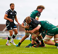4th June 2021; Galway Sportsgrounds, Galway, Connacht, Ireland; Rainbow Cup Rugby, Connacht versus Ospreys; Will Griffiths (Ospreys) tries to break the tackle from Niall Murray (Connacht)