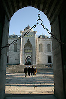 GOING TO PRAY AT THE BLUE MOSQUE, ISTANBUL, TURKEY