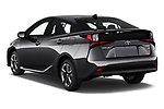 Car pictures of rear three quarter view of a 2019 Toyota Prius XLE 5 Door Hatchback angular rear