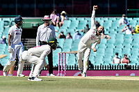 11th January 2021; Sydney Cricket Ground, Sydney, New South Wales, Australia; International Test Cricket, Third Test Day Five, Australia versus India; Nathan Lyon of Australia bowling to Ajinkya Rahane of India which would result in hiis wicket