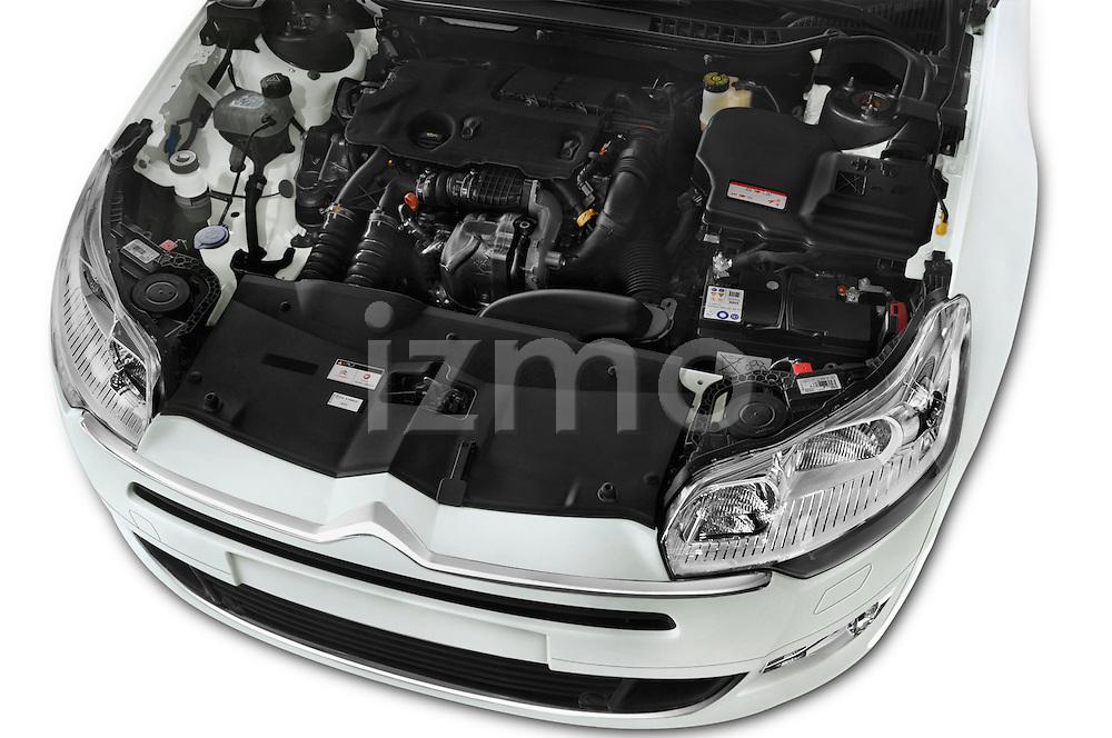Car Stock 2016 Citroen C5-Berline Business 4 Door Sedan Engine  high angle detail view