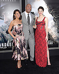 Dwayne Johnson ,Carla Gugino and Alexandra Daddario attends The Warner Bros. Pictures World Premiere of San Andreas held at the TCL Chinese Theatre  in Hollywood, California on May 26,2015                                                                               © 2015 Hollywood Press Agency