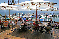 People dining outdoors Jakes on the Lake Tahoe City California