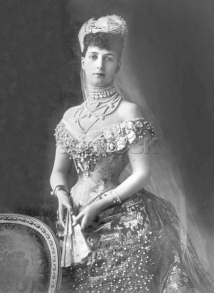 La reine Alexandra d'Angleterre (1844-1925), femme d' EdouardVII (1841-1910)--- The queen Alexandra born princess of Denmark (1844-1925), wife of the king EdwardVII (1841-1910)