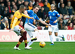 Motherwell v St Johnstone…20.10.18…   Fir Park    SPFL<br />Chris Kane and Charles Dunne<br />Picture by Graeme Hart. <br />Copyright Perthshire Picture Agency<br />Tel: 01738 623350  Mobile: 07990 594431
