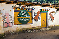 Punakha, Bhutan.  Phallus Decorations on Store Selling Souvenirs and Handicrafts, Chimi Village.