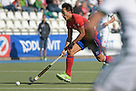 GER - Mannheim, Germany, October 02: During the men hockey match between Mannheimer HC (red) and HTC Uhlenhorst Muehlheim (white) on October 2, 2016 at Mannheimer HC in Mannheim, Germany. Final score 4-4 (HT 1-3). (Photo by Dirk Markgraf / www.265-images.com) *** Local caption *** Danny Nguyen #22 of Mannheimer HC