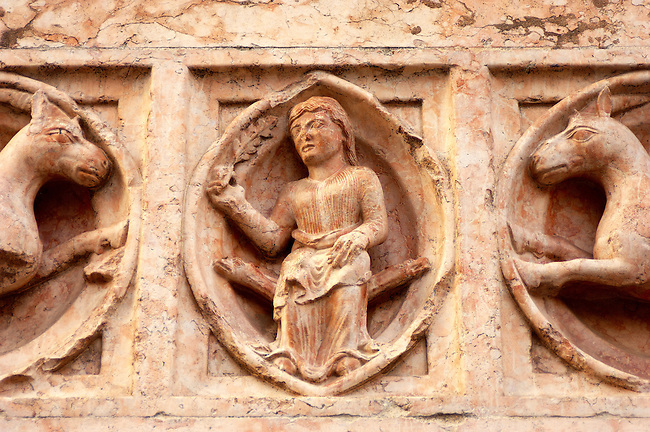 Close Up Of Carving from Baptisty - Parma - Italy