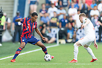 KANSAS CITY, KS - JULY 18: Reggie Cannon #2 of the United States during a game between Canada and USMNT at Children's Mercy Park on July 18, 2021 in Kansas City, Kansas.