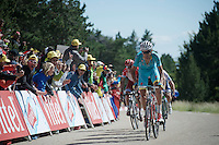 Fabio Aru (ITA/Astana) charging towards the finish<br /> <br /> stage 12: Montpellier - Mont Ventoux (shortened stage due to wind until Chalet Reynard; 178km)<br /> 103rd Tour de France 2016
