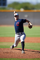 Cleveland Indians pitcher Dakody Clemmer (50) during an Instructional League game against the Kansas City Royals on October 11, 2016 at the Cleveland Indians Player Development Complex in Goodyear, Arizona.  (Mike Janes/Four Seam Images)