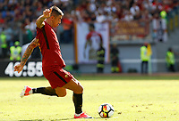 Calcio, Serie A: Roma vs Udinese. Roma, stadio Olimpico, 23 settembre 2017.<br /> Roma's Aleksandar Kolarov attempts a free kick during the Italian Serie A football match between Roma and Udinese at Rome's Olympic stadium, 23 September 2017. Roma won 3-1.<br /> UPDATE IMAGES PRESS/Riccardo De Luca
