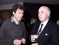 Montreal, 1999-08-29.Irish actor and jury member, Stephen Rea (left)enjoying himself at the party organised tonight (August 29) to celebrate Irish cinema presence at the World Film Festival. Irish cinema has the honor of beeing the subject of this year focus. More than 12  films from Ireland are presented.<br /> Photo : (c) Pierre Roussel, 1999<br /> KEYWORDS :  Irish cinema,  World Film Festival, Montreal, Canada