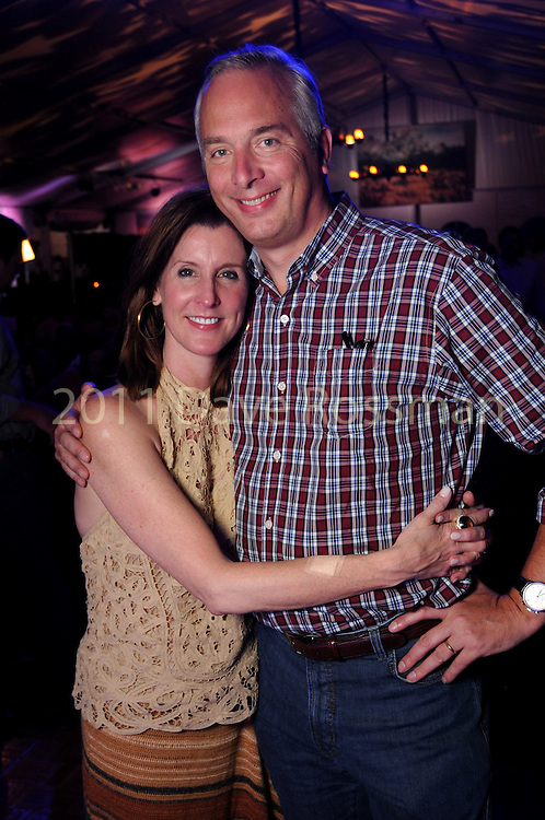 Phoebe and Bobby Tudor at the Nature Conservancy's Nature Rocks  Gala at the Houston Polo Club Thursday Oct. 22,2015.(Dave Rossman photo)