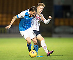 St Johnstone v Ross County…24.10.17…  McDiarmid Park…  SPFL<br />Paul Paton and Davis Keillor-Dunn<br />Picture by Graeme Hart. <br />Copyright Perthshire Picture Agency<br />Tel: 01738 623350  Mobile: 07990 594431