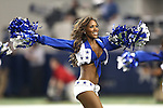 The Dallas Cowboys cheerleaders in action during the pre- season game between the Houston Texans and the Dallas Cowboys at the AT & T stadium in Arlington, Texas. Houston defeats Dallas 24 to 6.