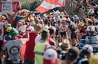 "Bauke Mollema (NED/Trek-Segafredo) coming through ""Dutch Corner"" (#7)<br /> <br /> Stage 12: Bourg-Saint-Maurice / Les Arcs > Alpe d'Huez (175km)<br /> <br /> 105th Tour de France 2018<br /> ©kramon"