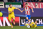 Kevin Gameiro of Atletico de Madrid battles for the ball with Vladimir Granat of FC Rostov during their 2016-17 UEFA Champions League match between Atletico Madrid and FC Rostov at the Vicente Calderon Stadium on 01 November 2016 in Madrid, Spain. Photo by Diego Gonzalez Souto / Power Sport Images
