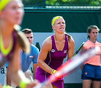 Paris, France, 30 May, 2018, Tennis, French Open, Roland Garros, Womans Doubles : Kiki Bertens (NED) (R) and Johanna Larsson (SWE)<br /> Photo: Henk Koster/tennisimages.com