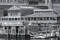 Bahr's Landing in Highlands, New Jersey offers a restaurant, marine fuel, bait and tackle and other services and products for boaters