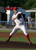 June 30, 2003:  pitcher C.J. Woodrow of the Batavia Muckdogs during a game at Dwyer Stadium in Batavia, New York.  Photo by:  Mike Janes/Four Seam Images
