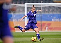 Laura Deloose (14) of Anderlecht pictured during a female soccer game between Oud Heverlee Leuven and RSC Anderlecht on the 2nd matchday of play off 1 in the 2020 - 2021 season of Belgian Womens Super League , saturday 17 th of April 2021  in Heverlee , Belgium . PHOTO SPORTPIX.BE | SPP | DAVID CATRY