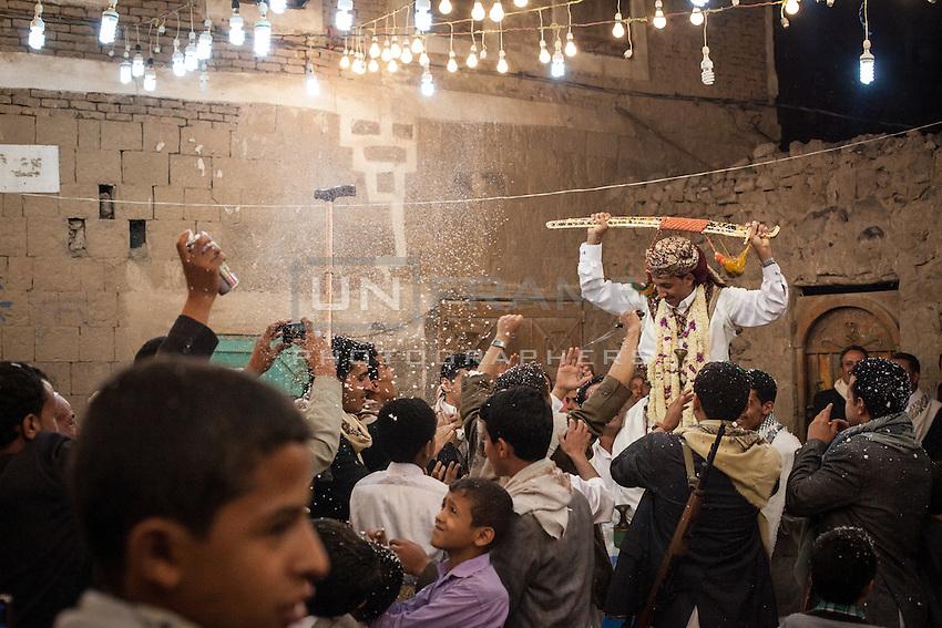 A Shia Houthi wedding in Old Sana'a.